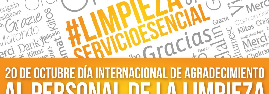 20 DE OCTUBRE DÍA INTERNACIONAL DE AGRADECIMIENTO AL PERSONAL DE LIMPIEZA